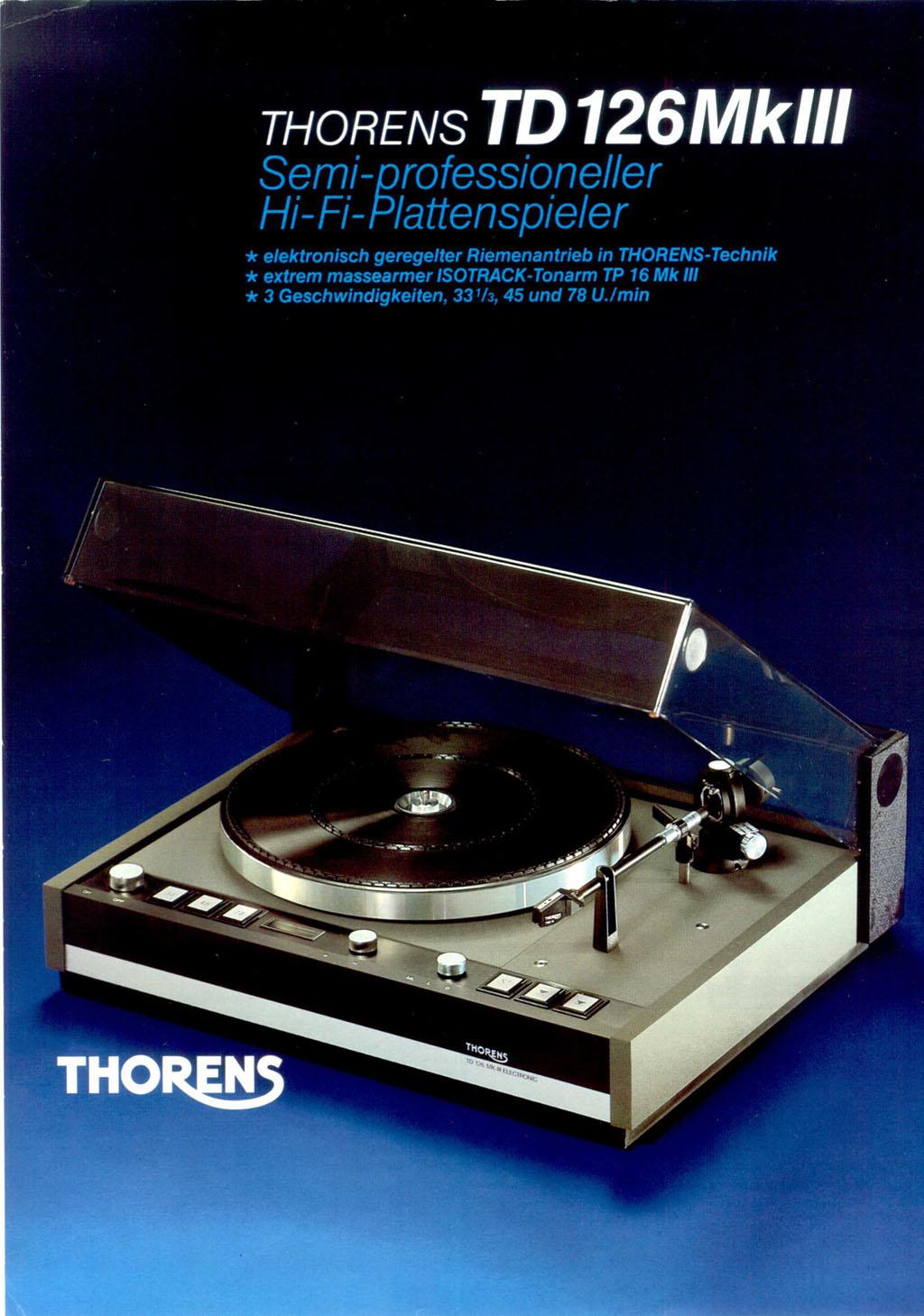 thorens td 115 service manual